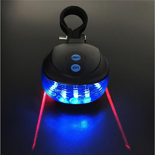 Задняя подсветка на велосипед / огни безопасности / задние фонари Лазер / Светодиодная лампа Велоспорт Водонепроницаемый, Портативные 200 lm 2 батареи AAA Красный / Синий