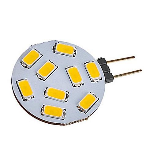 1шт 2W 180lm G4 Двухштырьковые LED лампы T 9 Светодиодные бусины SMD 5730 Тёплый белый Холодный белый 12-24V modern 2w 180lm 2800k 2 led up