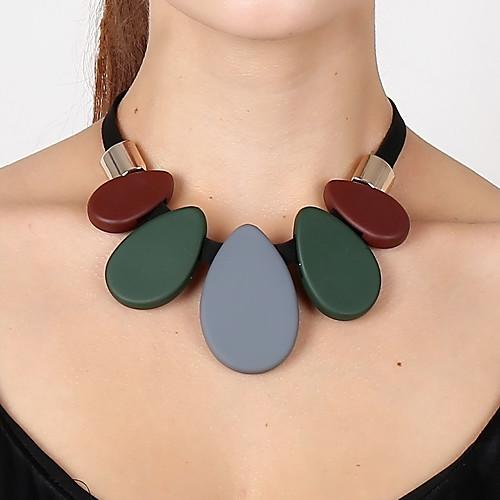 Жен. Ожерелья с подвесками - Свисающие Мода, Массивный, Цветной Темно-зеленый Ожерелье Назначение Для вечеринок, Подарок, Выпускной бижутерия в подарок