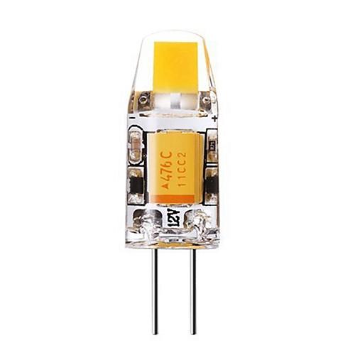 SENCART 1шт 2W 240-280lm G4 Двухштырьковые LED лампы T 1 Светодиодные бусины COB Декоративная Тёплый белый Холодный белый 12V