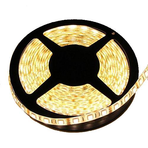 Гибкие светодиодные ленты 300 светодиоды Тёплый белый Можно резать Водонепроницаемый Самоклеющиеся Компонуемый DC 12 В DC 12V