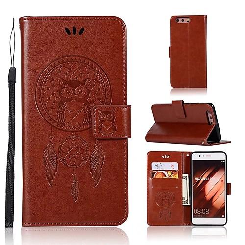 Кейс для Назначение Huawei P20 lite P20 Бумажник для карт Кошелек Флип Чехол Сова Твердый Кожа PU для Huawei P20 lite Huawei P20 P10 Plus