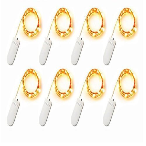 2м Гирлянды 160 светодиоды SMD 0603 Тёплый белый / Белый / Разные цвета Декоративная Аккумуляторы 8шт цена