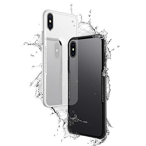 Кейс для Назначение Apple iPhone X iPhone 8 Plus Прозрачный Кейс на заднюю панель Однотонный Твердый Закаленное стекло для iPhone X защитное закаленное стекло esr для iphone 8 plus 7 plus 6 plus 6s plus