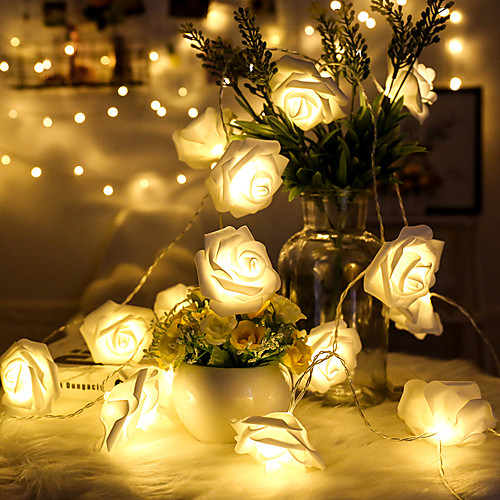 1,5 м Гирлянды 10 светодиоды Тёплый белый Декоративная Аккумуляторы AA 1шт цена