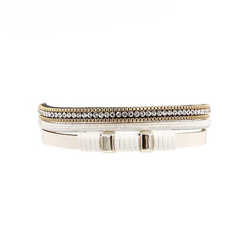 Жен. Кожаные браслеты - Кожа Мода Браслеты Белый Назначение Подарок / Повседневные бижутерия в подарок