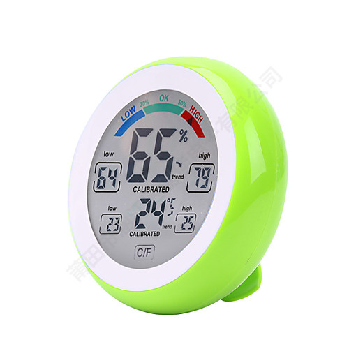 Touch Screen Digital Temperature Humidity Thermometer Hygrometer Датчик влажности температуры Платформа ТермометрforДом indoor outdoor lcd digital 433mhz wireless 8 channel thermo hygrometer 5 remote sensors thermometer hygrometer