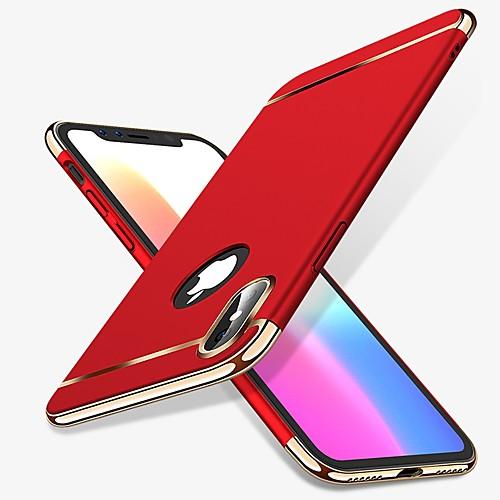 Кейс для Назначение Apple iPhone X / iPhone 8 Защита от удара / Покрытие Кейс на заднюю панель Однотонный Твердый ПК для iPhone X / iPhone 8 Pluss / iPhone 8 фото
