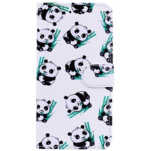 Кейс для Назначение Apple iPhone X iPhone 8 Plus Бумажник для карт Кошелек со стендом Флип С узором Чехол Панда Твердый Кожа PU для детская футболка классическая унисекс printio король панда