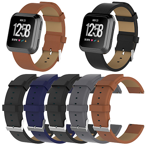 Watch Band for Fitbit Versa Fitbit Classic Buckle Genuine Leather Wrist Strap