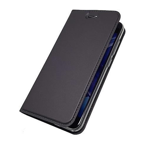 Кейс для Назначение Huawei Honor View 10(Honor V10) Honor 7X Бумажник для карт со стендом Флип Магнитный Чехол Однотонный Твердый Кожа PU все цены