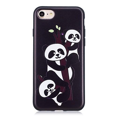 Кейс для Назначение Apple iPhone X iPhone 8 С узором Кейс на заднюю панель Панда Мягкий ТПУ для iPhone X iPhone 8 Pluss iPhone 8 iPhone 7 детская футболка классическая унисекс printio король панда
