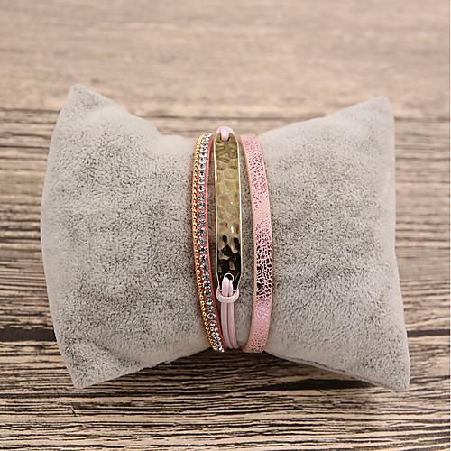 Жен. Кожаные браслеты - Кожа Мода Браслеты Розовый Назначение Подарок / Повседневные бижутерия в подарок