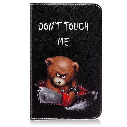 Кейс для Назначение SSamsung Galaxy Tab E 8.0 Бумажник для карт Кошелек со стендом С узором Авто Режим сна / Пробуждение Чехол Слова / авто с пробегом в твери уаз