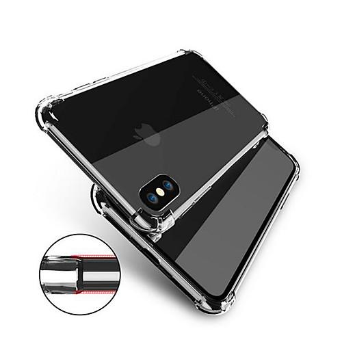 Кейс для Назначение Apple iPhone X iPhone 8 Защита от удара Прозрачный Body Кейс на заднюю панель Однотонный Мягкий ТПУ для iPhone X