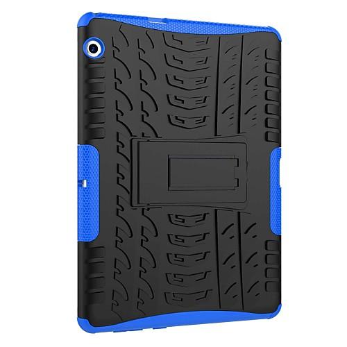 Фото Кейс для Назначение Huawei MediaPad T3 10(AGS-W09, AGS-L09, AGS-L03) Защита от удара со стендом броня Кейс на заднюю панель Плитка броня for 2017 huawei mediapad t3 10 ags w09 ags l09 pu leather cover case for 9 6 tablet stand with hand holder gift
