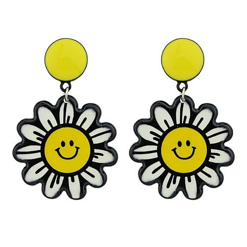 Жен. Серьги-слезки - Цветы Мода Желтый Назначение Подарок / Свидание бижутерия в подарок