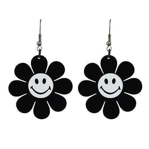 Жен. Серьги-слезки - Цветы Мода Черный Назначение Подарок / Свидание бижутерия в подарок
