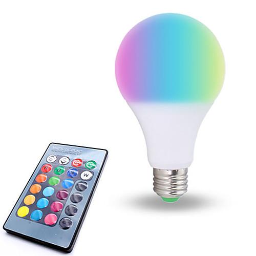 1шт 10W 800lm E26 / E27 Круглые LED лампы 6 Светодиодные бусины SMD 5050 Диммируемая Декоративная На пульте управления RGB Белый 85-265V игрушечные машинки на пульте управления по грязи купить
