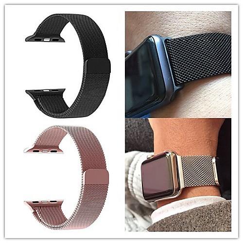 Купить со скидкой Ремешок для часов для Apple Watch Series 4/3/2/1 Apple Миланский ремешок Нержавеющая сталь Повязка н