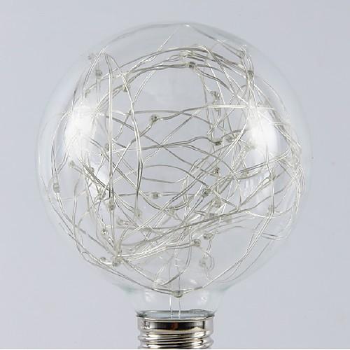1шт 1W - E26 / E27 Круглые LED лампы 20 Светодиодные бусины SMD звездный Тёплый белый RGB 200-240V лампы освещение