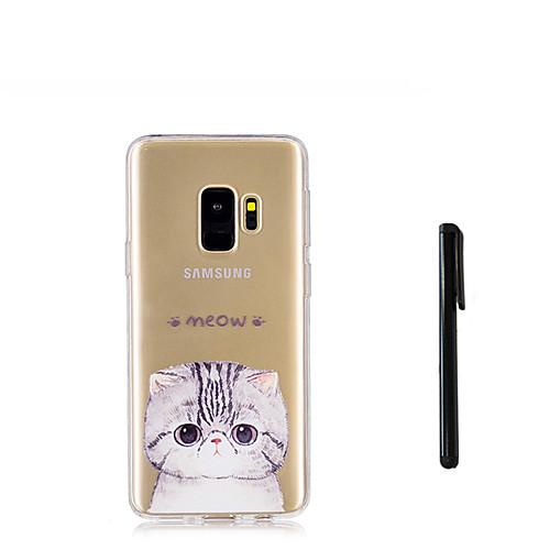 Кейс для Назначение SSamsung Galaxy S9 S9 Plus Полупрозрачный Кейс на заднюю панель Кот Животное Мягкий ТПУ для S9 Plus S9 S8 Plus S8 S7