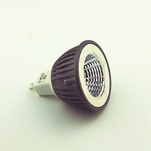 1шт 4.5W 600lm MR16 Точечное LED освещение 1 Светодиодные бусины COB Тёплый белый 12V лампы освещение