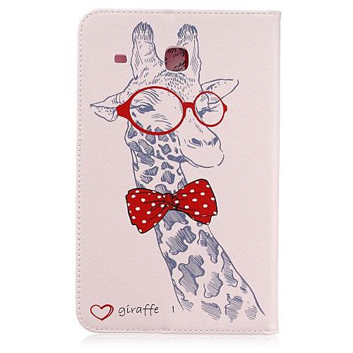 Кейс для Назначение SSamsung Galaxy Tab E 8.0 Бумажник для карт Кошелек со стендом С узором Авто Режим сна / Пробуждение Чехол Животное держатели в авто lola держатель для телефона в авто