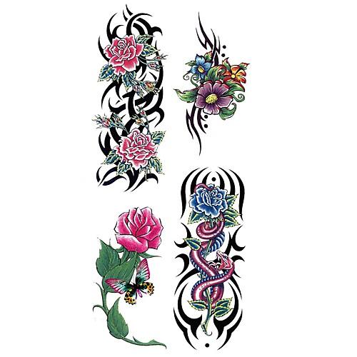 1pcs Waterproof Тату с цветами Временные тату Наклейки тату рукава в владимире
