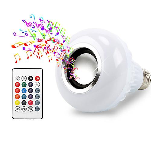 1шт 12W 600lm E26 / E27 Умная LED лампа 26 Светодиодные бусины SMD 5050 Bluetooth Диммируемая Декоративная На пульте управления RGB игрушечные машинки на пульте управления по грязи купить