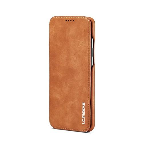 Кейс для Назначение SSamsung Galaxy S9 S9 Plus Бумажник для карт со стендом Флип Чехол Однотонный Твердый Настоящая кожа для S9 Plus S9