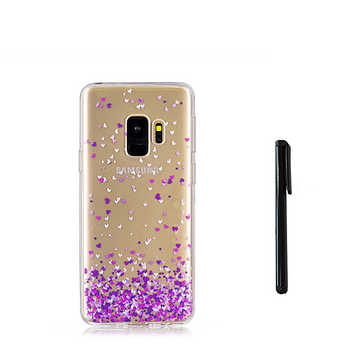 Кейс для Назначение SSamsung Galaxy S9 S9 Plus Полупрозрачный Кейс на заднюю панель С сердцем Мягкий ТПУ для S9 Plus S9 S8 Plus S8 S7 стилусы