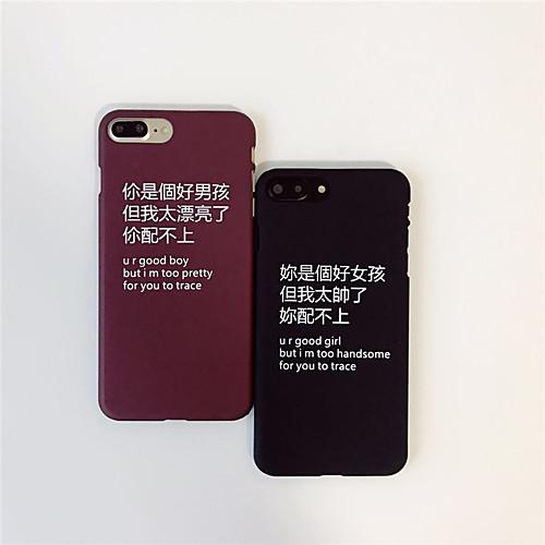Кейс для Назначение Apple iPhone 6 iPhone 7 С узором Кейс на заднюю панель Слова / выражения Твердый ПК для iPhone 7 Plus iPhone 7 iPhone