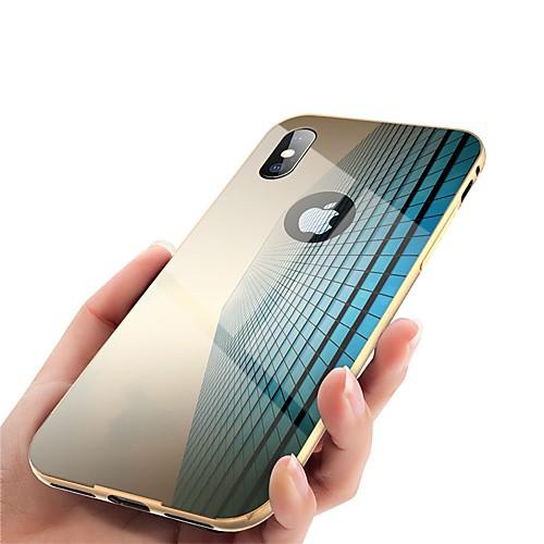 Кейс для Назначение Apple iPhone X / iPhone 8 Зеркальная поверхность Чехол Однотонный Твердый Металл для iPhone X / iPhone 8 Pluss / iPhone 8 фото