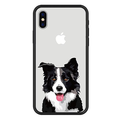 Кейс для Назначение Apple iPhone X / iPhone 8 Plus С узором Кейс на заднюю панель С собакой / Животное / Мультипликация Твердый Акрил для iPhone X / iPhone 8 Pluss / iPhone 8 фото