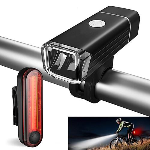 Передняя фара для велосипеда / Задняя подсветка на велосипед / Набор аккумуляторных ламп для велосипеда Светодиодная лампа Велоспорт Водонепроницаемый, Портативные Литий-ионная 500 lm