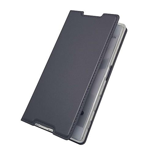 Кейс для Назначение Sony Xperia XZ Premium Xperia X compact Бумажник для карт со стендом Флип Магнитный Чехол Однотонный Твердый Кожа PU чехол для для мобильных телефонов oem 1 s lt15i xperia sony x 12 xperia arc s lt18i