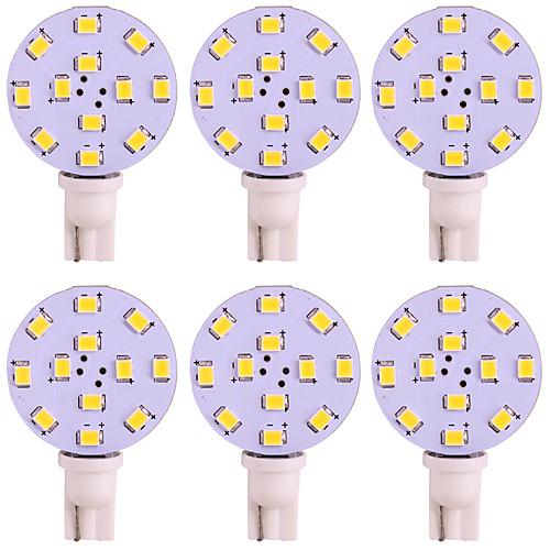 6шт T10 Автомобиль Лампы 2W SMD 2835 125lm 12 Светодиодная лампа Внутреннее освещение For Универсальный / Дженерал Моторс Универсальный цена