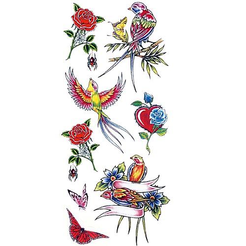 1pcs Waterproof Тату с животными Тату с цветами Временные тату Наклейки тату рукава в владимире