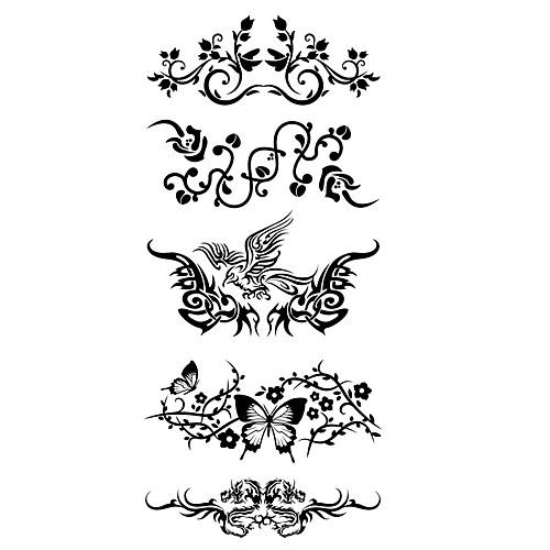 Waterproof / Стикер татуировки Корпус / рука / плечо Временные татуировки 1 pcs Тату с животными Искусство тела временные татуировки мнетату временное тату кит