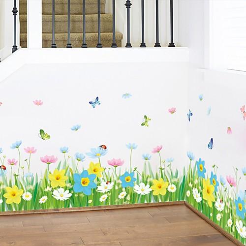 Декоративные наклейки на стены - Простые наклейки Цветочные мотивы / ботанический Гостиная Спальня Ванная комната Кухня Столовая Кабинет фото