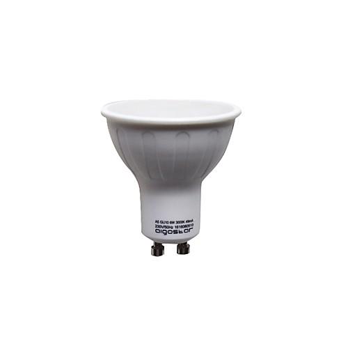 1шт 6W 390lm GU10 Точечное LED освещение 11 Светодиодные бусины SMD 2835 Тёплый белый 220-240V