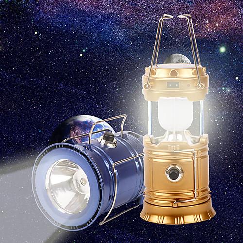 LED Solar Powered Collapsible Flashlights Походные светильники и лампы Светодиодная лампа 1 Режим освещения с USB кабелем Портативные /