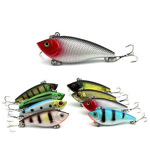 8pcs штук Колеблющаяся блесна Рыболовная приманка Вибрация Жесткая наживка ABS На открытом воздухе Спорт и отдых Морское рыболовство