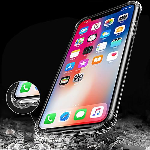 Кейс для Назначение Apple iPhone X iPhone 8 iPhone 8 Plus iPhone 6 iPhone 6 Plus Защита от удара Прозрачный Кейс на заднюю панель чехол для для мобильных телефонов cy apple iphone 4 4 g 4s 5 5 g 5s 5c 6 6 for 4 4s 5 5s 5c 6 or 6plus