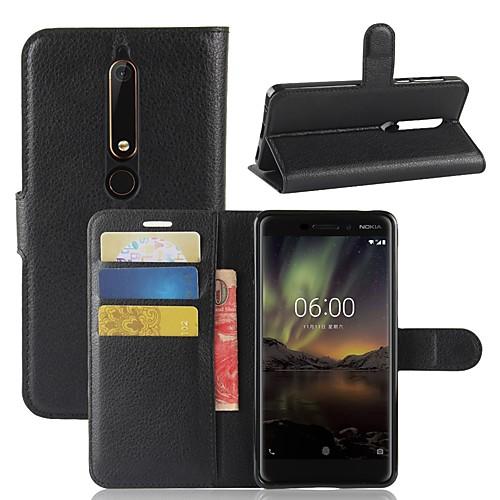 Кейс для Назначение Nokia Nokia 7 Plus Nokia 6 2018 Бумажник для карт Кошелек Флип Магнитный Чехол Однотонный Твердый Кожа PU для Nokia 9 nokia 5530 в туле
