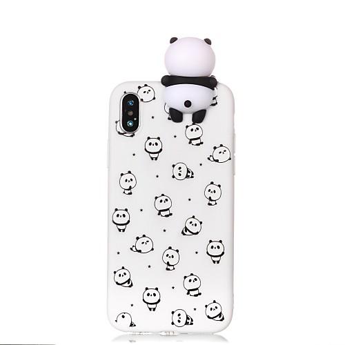 Кейс для Назначение Apple iPhone X iPhone 8 С узором Своими руками Кейс на заднюю панель Панда Мультипликация Мягкий ТПУ для iPhone X детская футболка классическая унисекс printio король панда