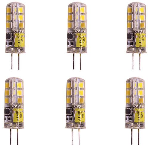 WeiXuan 6шт 2W 160lm G4 Двухштырьковые LED лампы T 24 Светодиодные бусины SMD 2835 Тёплый белый Холодный белый 12V