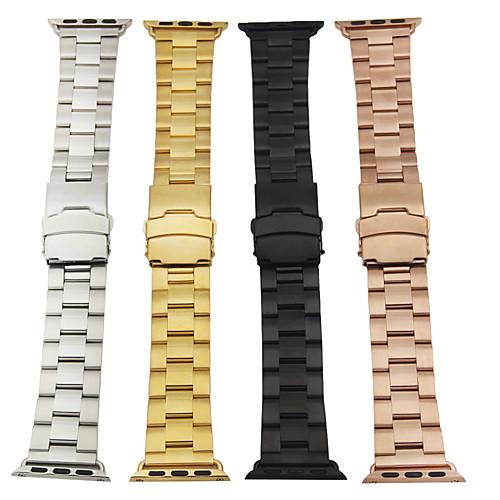 Ремешок для часов для Apple Watch Series 4/3/2/1 Apple Классическая застежка Металл / Нержавеющая сталь Повязка на запястье