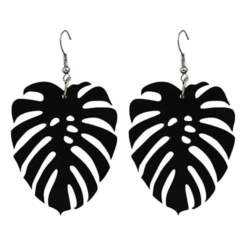 Серьги-слезки - В форме листа Мода Черный Назначение Подарок / Свидание бижутерия в подарок